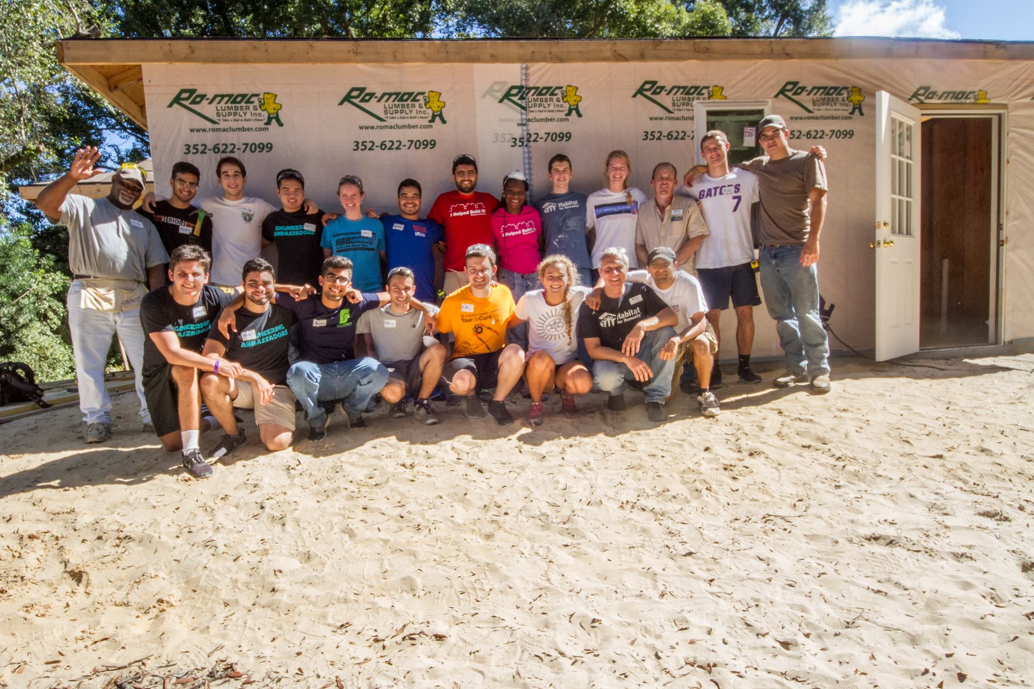 The Engineering Ambassadors Team Up With Habitat For Humanity
