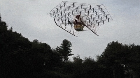 54- Propeller Super Drone Takes Flight