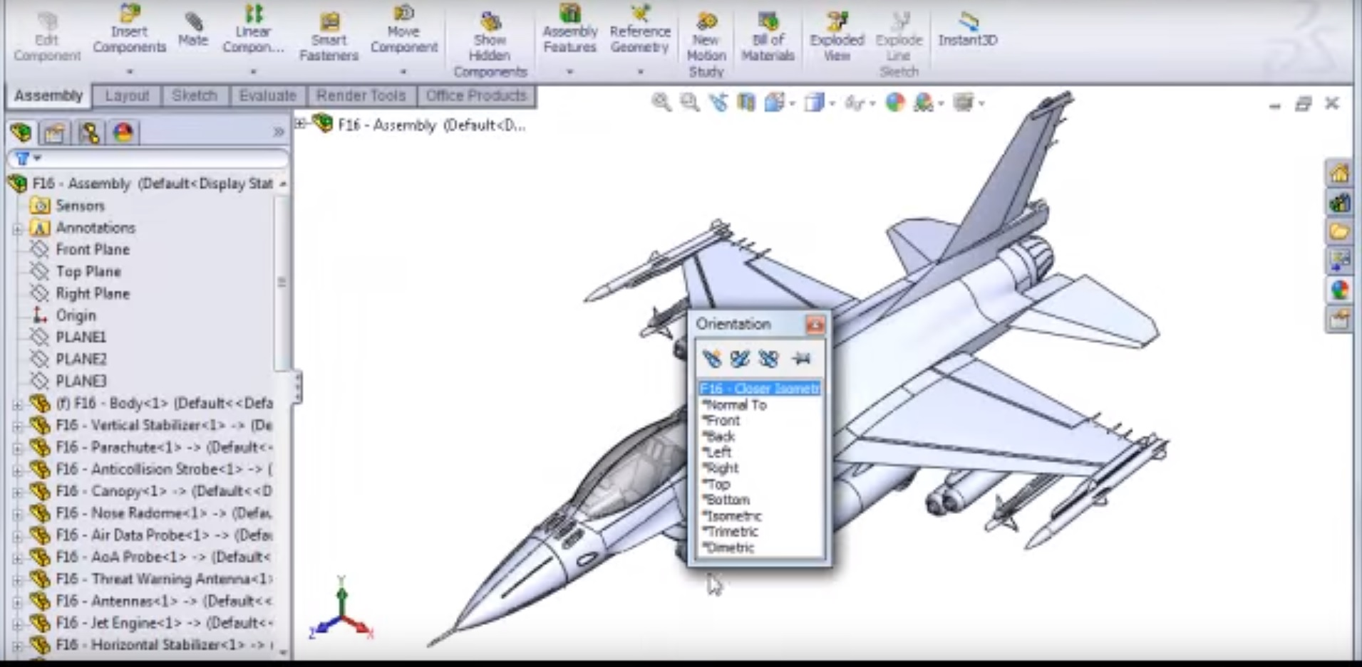 Modeling An F-16 in Solidworks